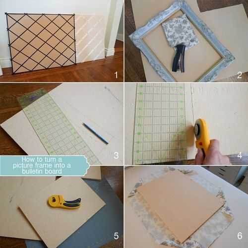 DIY Picture Frame Bulletin Board