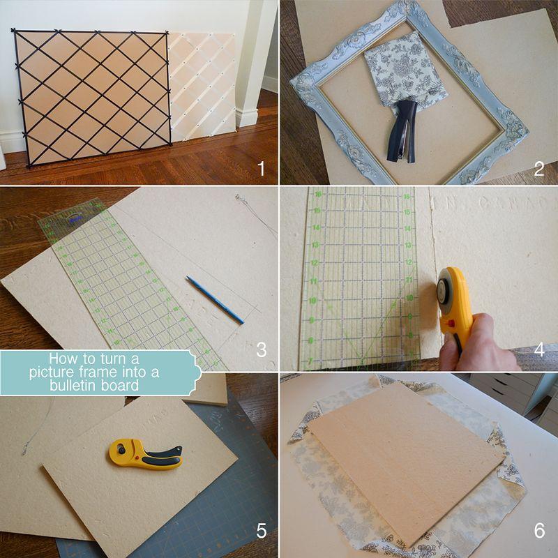 DIY Picture Frame Bulletin Board