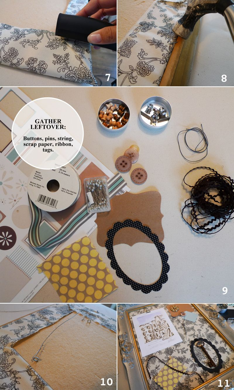 DIY Picture Frame Bulletin Board2