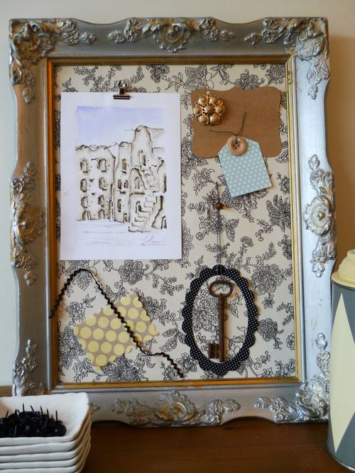 How To Turn A Picture Frame Into A Bulletin Board The Locker