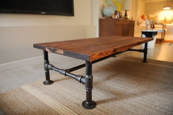 diy industrial coffee table (the locker)